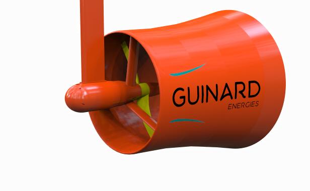 Hydrolienne fluviale P66 de Guinard Energies