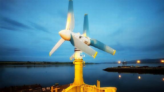 Hydrolienne à axe horizontal AR1500 de 1.5 MW de Atlantis