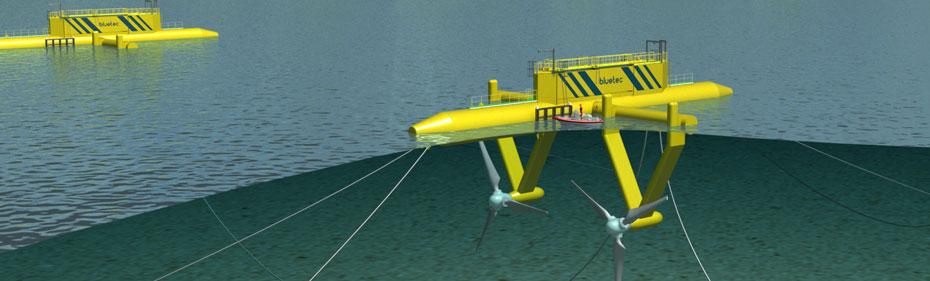 Système hydrolien flottant BlueTec