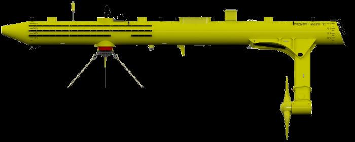 Hydrolienne SR2000 en mode fonctionnement