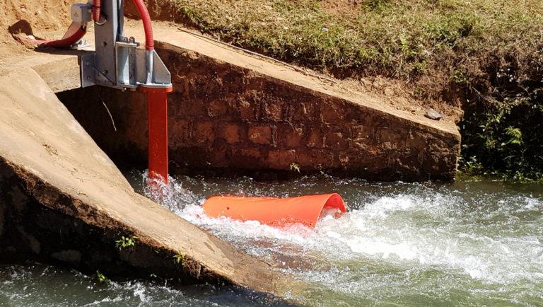 Installation hydrolienne de rivière P66 de Guinard Energies à Madagascar